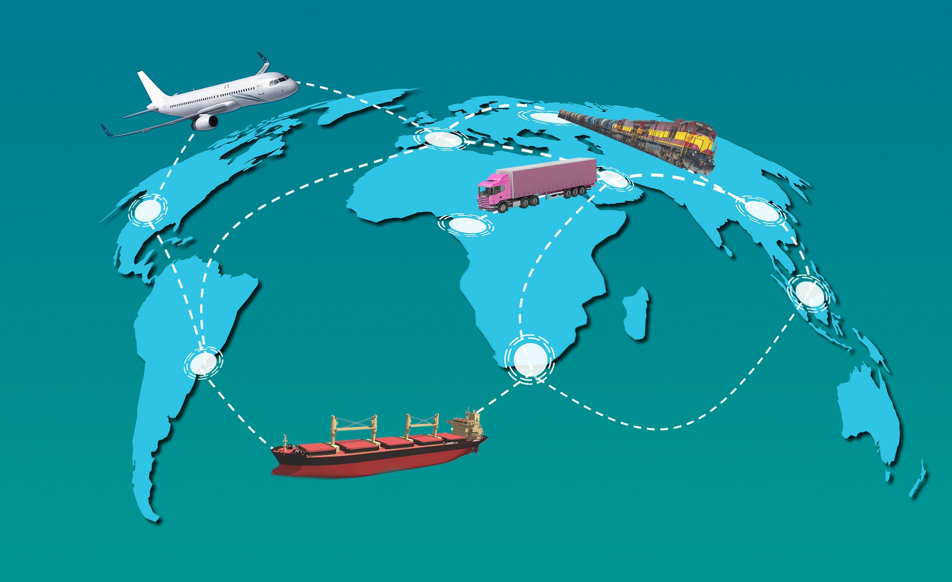 Weltkarte Logistik
