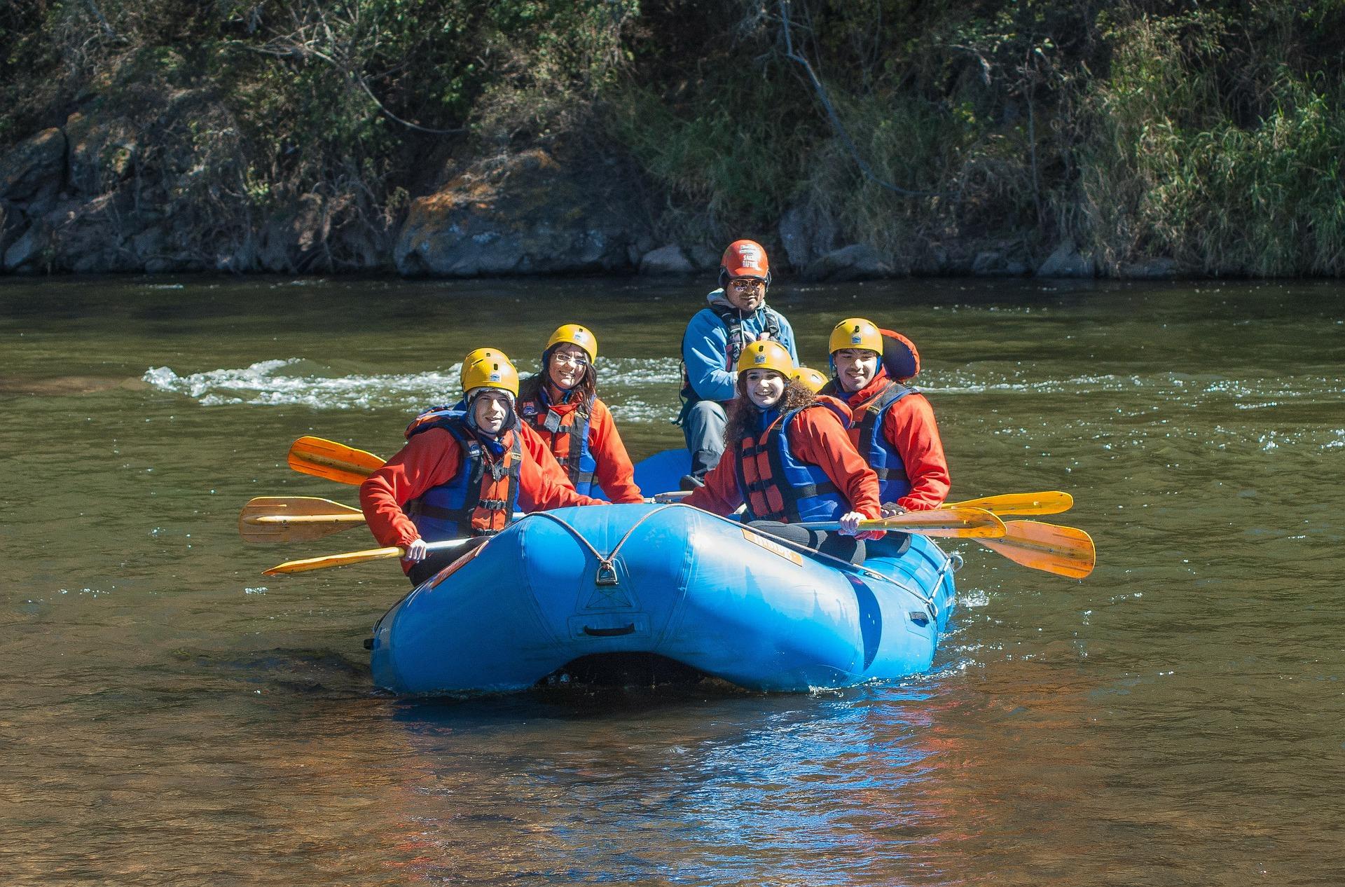 Campingurlaub und Rafting mit der Familie